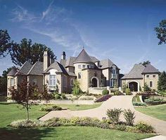 :) I 'll make this my castle anyday. Eplans European House Plan - French Chateau - 8570 Square Feet and 4 Bedrooms(s) from Eplans - House Plan Code Town Country Haus, French Country House Plans, European House Plans, Luxury House Plans, Dream House Plans, My Dream Home, Castle House Plans, Dream Homes, European Plan