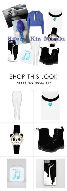 """""""Hitomi Kin Mizuki"""" by zoeytoto ❤ liked on Polyvore featuring beauty, Topshop, Dr. Martens, Happy Plugs and TWINTIP"""