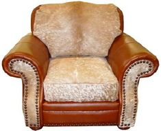 Western Cowhide Furniture!! I'm in love with this company!  The website is good, but there facebook page is GREAT!! I like this chair but I love it in different leather styles.
