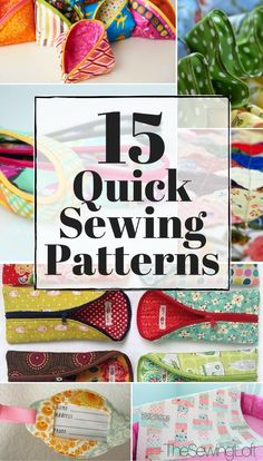Every seamstress needs a few go to projects in her line up and these quick sewing patterns are a must! They quick to stitch but they are great gifts.