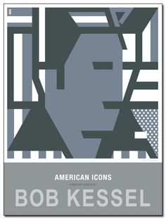 AMERICAN ICONS POSTER (Fat Lines, Skinny Elvis) by bobkessel
