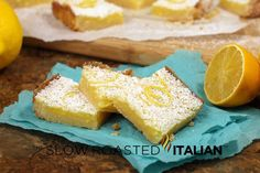 The Slow Roasted Italian - Printable Recipes: Easy Lemon Bars Recipe