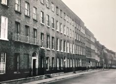 Photo taken just after the junction of Rutland Street Lower and Summerhill, heading down towards the junction with Gardiner Street. All since demolished Gloucester Street, Dublin Street, Ireland Pictures, Photo Engraving, Georgian Homes, School Memories, Dublin Ireland, Google Search, Historical Photos