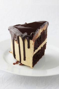 chocolate cake with coffee buttercream & chocOlate glaze