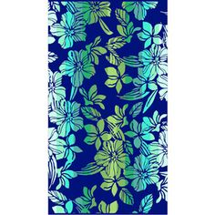 Better Homes and Gardens Jacquard Oversized Beach Towel, Blue Hibiscus Stripe