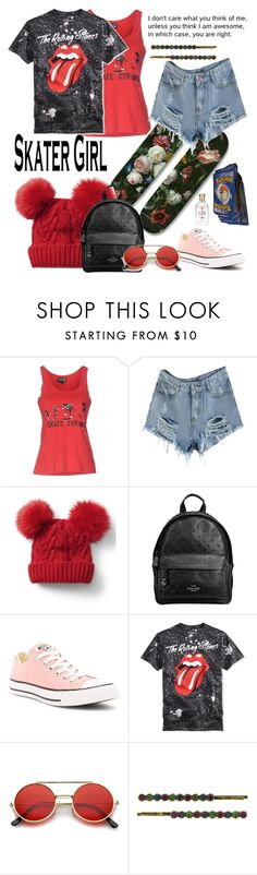 """""""Skater Girl..."""" by detroitgurlxx ❤ liked on Polyvore featuring EMILY THE STRANGE, Gap, Coach, Converse, ZeroUV and 1928"""