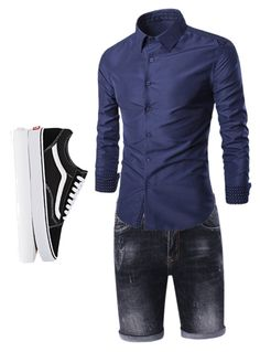 """""""Untitled #16"""" by mersocasas ❤ liked on Polyvore featuring Vans, men's fashion and menswear"""