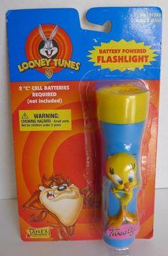 Looney Tunes Tweety Bird Battery Powered Kids Flashlight Janex Corp NOS 1997 HTF   eBay