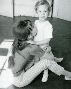 Audrey Hepburn and her son. I just love her style, and an amazingly devoted mother.