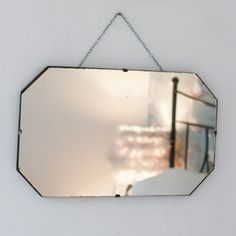 Vintage Octagonal Frameless Mirror | The Other Duckling