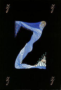 Erté Letter Z (The Alphabet Suite)