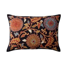 Multi Embroidered Pillow Cover-Embroidered Floral