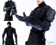 Jason Todd outfit Concept by LLPros on DeviantArt Red Hood Cosplay, Red Hood Costume, Red Hood Jason Todd, Cosplay Armor, Superhero Design, Armor Concept, Body Armor, Poses, The Villain