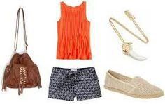 Orange outfit idea