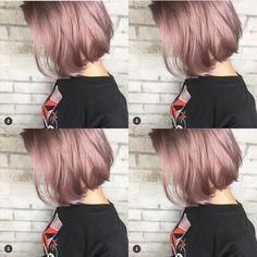 NOBU/渋谷店さんはInstagramを利用しています:「ピンクラベンダーアッシュ @mizuchael @album_hair 担当NOBU/「ALBUM」プロデューサー @nobuhair (アップルストア渋谷のビルの最上階☆) ご予約0364163288…」 Pretty Short Hair, Short Brown Hair, Girl Short Hair, Blue Hair, Pink Hair, Bob Hair Color, Korean Short Hair, Gorgeous Hair Color, Hair Arrange