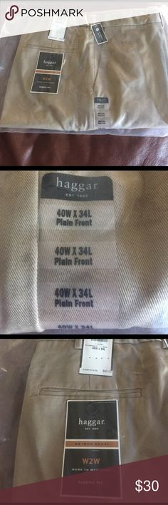 Haggar men's pants Brand new- plain front men's pants.  40w x34L. Haggar Pants Chinos & Khakis