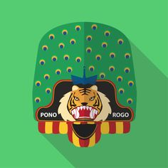 Singo Barong, is one of character from Reog which is a traditional dance from Ponorogo, East Java Province, Indonesia. In the legend of Reog, Singo Baro. Indonesian Art, Barong, Art Reference, Diy And Crafts, Dancer, Illustration Art, Animation, Culture, Deviantart