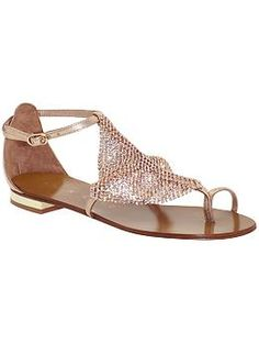 Lola Cruz gold metallic sandal, as seen in the Winter 2013 issue of VIVmag http://www.zinio.com/pages/VIVmag/WINTER2013/416249191/pg-46