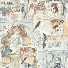 Galerie - Memories 2 - G56116 (Moulin Rouge) Wallpaper: Amazon.co.uk: DIY & Tools