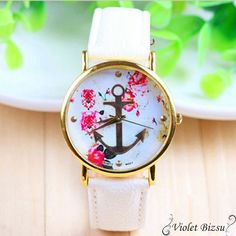 Cheap watches cute, Buy Quality watch cartoon directly from China watch crocodile Suppliers: Irisshine Woman watches Women's Fashion Leather Floral Printed Anchor Quartz Dress Wrist Watch wholesale Cute Jewelry, Jewelry Accessories, Jewlery, Shell Jewelry, Cool Watches, Women's Watches, Ladies Watches, Wrist Watches, Jewelry Watches