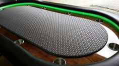 Instructions on how to build a poker table with free poker table plans. Poker Table Diy, Poker Table Plans, Custom Poker Tables, Diy Table, Desk Plans, Rustic Man Cave, Man Cave Diy, Man Cave Home Bar, Bar Games