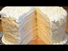 YouTube Healthy Eating Tips, Healthy Nutrition, White Cakes, Vegetable Drinks, Russian Recipes, Vanilla Cake, Sweet Tooth, Deserts, Snack Recipes