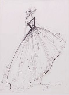 Christian Siriano Original Sketch I