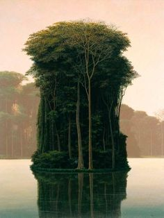 Tree island. Tomás Sánchez is a Cuban painter and engraver, known for his landscape paintings. Sánchez is the most valued of live Cuban painters.