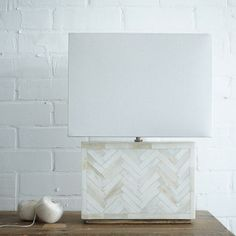 Parsons Bone Tile Table Lamp | west elm $149