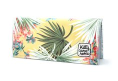Bi-fold Clutch  Palm fronds fabric by kittycamehome on Etsy