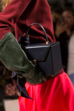 Victoria Beckham presented structured box-shaped bags that felt like a new direction for the designer.