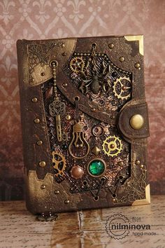 "Steampunk notebook blank journal diary ""Cellar Spirit"" by. - Steampunk notebook blank journal diary ""Cellar Spirit"" by nilminova steampunk buy now online Moda Steampunk, Design Steampunk, Arte Steampunk, Steampunk Book, Style Steampunk, Steampunk Crafts, Steampunk Fashion, Steampunk Bedroom, Gothic Steampunk"