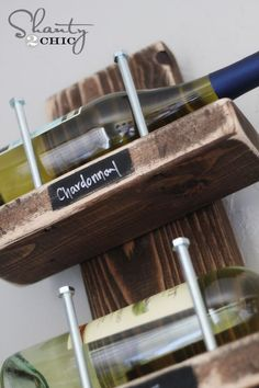 Hey guys! Recently, our friends at Ryobi Tools challenged us to come up with a cheap and easy wine rack to be featured on Ryobi Nation.  We love a good challenge like this!  So… Here is how our 'Shanty' Wine Rack turned out… Today we will be showing you all how to make this simple… #makewinediy