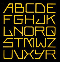 Alphabet based on lettering of the Amsterdam School. It's hard to believe that this design is almost 100 years old...K