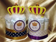 Royal Shower Diaper Cakes  Royal Baby Shower Party   Visit www.fireblossomcandle.com for more party ideas