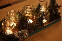 simple idea for any holiday decor, just change out greenery.