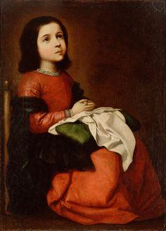 Francisco de Zurbarán, L'Enfance de la Vierge, vers 1658-1660. Saint-Pétersbourg, musée de l'Ermitage.