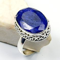 'Seductive Blue' Sterling Silver Sapphire Ring, Size 6.75  Price : $44.25 http://www.silverplazajewelry.com/Seductive-Blue-Sterling-Silver-Sapphire/dp/B00EX9DPFQ