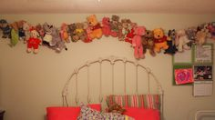 Easy way to organize my daughters stuffed animals but still let her see them all and play with them. She loves this!