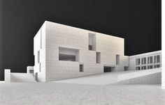 Secondary School António Arroio by Francisco Aires Mateus (Lisbon, Portugal)… Facade Architecture, School Architecture, Architecture Models, Architecture Collage, Vienna House, Contemporary Art Daily, Arch Model, Small Buildings, House Drawing