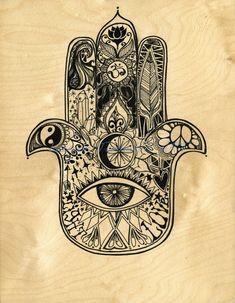 Canvas Print Hamsa Painting Design by Lauren Tannehill Art Canvas Print Hamsa Painting Design by Lauren by laurentannehillART Hand Tattoos, Hamsa Hand Tattoo, Hamsa Art, Flower Tattoos, Sleeve Tattoos, Arabic Tattoos, Tatoos, Filipino Tattoos, Hamsa Design