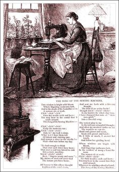 The Song of the Sewing Machine Cartoon
