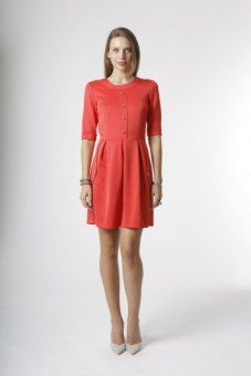 Ludlow Dress  Coral  New Arrivals