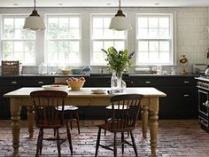 Pictures of Black Kitchen Cabinets - Black Cabinets Kitchen - Country Living