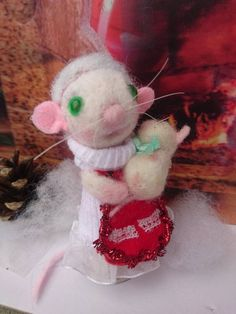 Items similar to Mum and baby mouse Needle felted animal mouse Christmas mouse Mother and baby mouse Needle felt mouse mum with baby mouse felt mouse on Etsy Needle Felted Animals, Felt Animals, Needle Felting, Felt Mouse, Baby Mouse, Pet Mice, Christmas Hat, Mother And Baby, New Baby Products