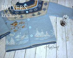 Knitting pattern baby cardigan Winter and Robin
