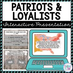 Patriots and Loyalists Interactive Google Slides™ Presentation Distance Learning Try something new with this Digital Patriots and Loyalists Interactive Google Slides Presentation ™ with self-checking questions! Perfect reading comprehension activity for distance learning in 4th grade, 5th grade or 6th grade! #RevolutionaryWar #PatriotsandLoyalists #USHistory #HomeSchool #Digital #4thgrade #5thgrade #6thgrade #Interactive #MiddleSchool #UpperElementary