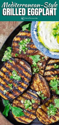 This tender, smoky grilled eggplant with whipped feta is next level delicious! Don't miss the expert tips for how to grill eggplant perfectly every time! Mediterranean Eggplant Recipe, Mediterranean Dishes, Mediterranean Diet Recipes, Grilling Recipes, Veggie Recipes, Vegetarian Recipes, Cooking Recipes, Healthy Recipes, Healthy Food