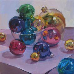 Jewel tone Ornaments     -   Sarah Sedwick