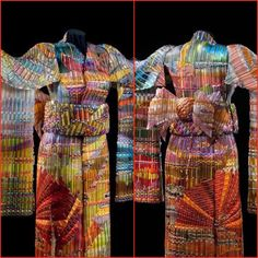 'Autumn Sunset' woven glass kimono | Eric Markow and Thom Norris - visit their incredible artwork @ www.wovenglass.com